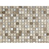 Classical Flagstones Ashdown Grey Silver Etched Mosaic Tile