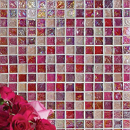 Glass Mosaic:Hammered Pearl