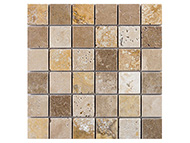Classical Flagstones:Mosaics:Mixed Travertine mosaic 5x5