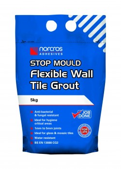Norcros Adhesives Stop Mould Wall Tile Grout White 5kg x3