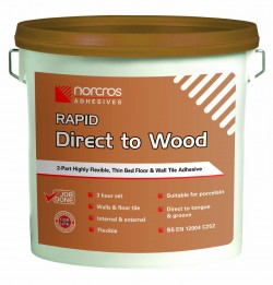 Norcros Adhesives Tile Direct to Wood-Rapid Kit Grey