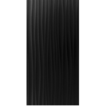 Function and Form Wave Gloss Black Field Tile - 248x498mm