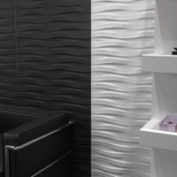 Continental Tiles Synura White Wave 25x70